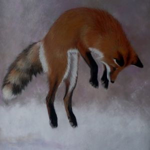 fox on the easel